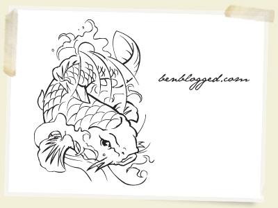 This Koi fish is hand traced so I hope you all love it