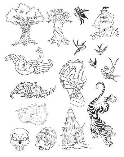 With that being said I am releasing the entire tattoo vector set FREE.